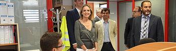 Carmen Casero visita la empresa Eiffage Energía en Albacete I. Foto: JCCM.