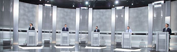 Debate televisivo entre los candidatos a la Presidencia del Gobierno´. Foto: EVA ERCOLANESE