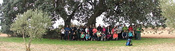 Jornada de senderismo desarrollada en Horcajo de Santiago dentro del Campus Diputación de Cuenca Senderismo 2018