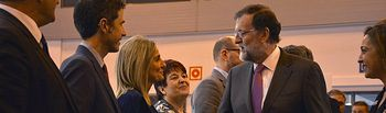 La alcaldesa de Toledo, Milagros Tolón, ha participado este viernes en las acciones que ha llevado a cabo el Grupo de Ciudades Patrimonio de la Humanidad (GCPHE) en Fitur