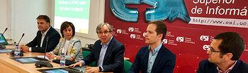 Desde la izquierda, Alipio García, Juana Velasco Mateos-Aparicio, Juan Carlos López, Ricardo Cuevas y Sebastián López Suárez  © Gabinete de Comunicación UCLM