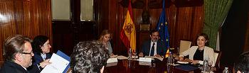 Isabel García Tejerina recibe al consejero de Fomento, Vivienda, Ordenación del Territorio y Turismo de la Junta de Extremadura. Foto: Ministerio de Agricultura, Alimentación y Medio Ambiente