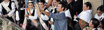 Inauguración de la Feria con el cobetazo