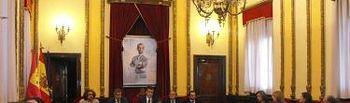 Presentación del nuevo cuadro del rey y de la exposición de retratos reales