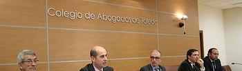 El director general de Empresas, Competitividad e Innovación, de la Consejería de Economía, Empresas y Empleo, Javier Rosell, durante su intervención en el acto de celebración del Día Internacional de la Mediación. Foto: JCCM.