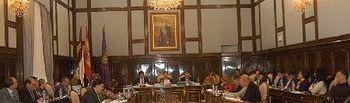 Un momento del Pleno ordinario de la Diputación Provincial.