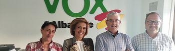 Reunión Federación de Caza de Castilla-La Mancha y Vox Albacete.