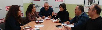 Reunión con la Federación Agroalimentaria de CCOO de Albacete y delegados sindicales de GEACAM.