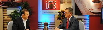 Marcial Marín, entrevistado en 'Café para 2' de CMT. Foto: JCCM.