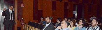 Momento de la conferencia inaugural.