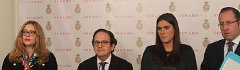 Luis Aznar en la Comisión de Investigación del Senado sobre la financiación de los partidos políticos