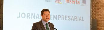 El presidente de Castilla-La Mancha, Emiliano García-Page, inaugura, la jornada 'Networking empresarial 2019', organizada por Inserta Empleo de la Fundación ONCE.( Fotos :José Ramón Márquez//JCCM)
