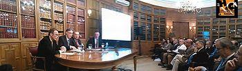 Presentación del libro en el Ateneo de Madrid.