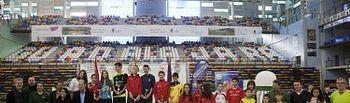 Deportistas premiados en el Master Nacional de Badminton