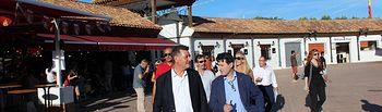 Pedro Soriano, concejal en el Ayuntamiento de Albacete y coordinador de Contigo Somos Democracia en Castilla-La Mancha, José Enrique Aguar en la Feria de Albacete 2017.