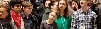 La activista sueca Greta Thunberg la Cumbre Social por el Clima (COP25) que acoge Madrid.  Foto: Twitter COP25 @COP25CL