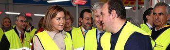 Cospedal visita la planta de Ilunion Facility Services. Foto: JCCM.