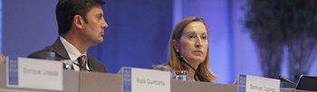 La ministra de Fomento en la XVIII Conferencia de IALA, en A Coruña (foto EFE)
