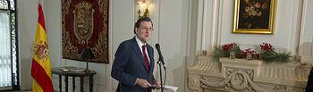 El presidente del Gobierno, Mariano Rajoy, comparece ante los medios de comunicación tras reunirse con los embajadores de España en Estados Unidos, ante la Organización de Naciones Unidas (ONU) y ante la Organización de los Estados Americanos (OEA).