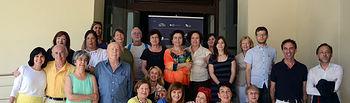 Alumnos del curso celebrado durante la primera semana de julio junto a profesores y organizadores.