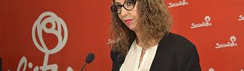 Sara Simón, portavoz del Grupo socialista en el Ayuntamiento de Guadalajara y secretaria local del PSOE.
