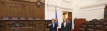 Viaje del presidente del Gobierno a Chile. Foto: Pool Moncloa.