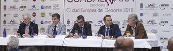 Presentación ciclo de charlas para promocionar la candidatura de Guadalajara a Ciudad Europea del Deporte; vuelta ciclista a España