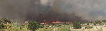 Incendio declarado en El Bonillo. Foto: Policía Local de El Bonillo