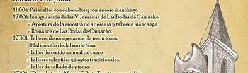 Programación Bodas de Camacho 2019 - Munera.