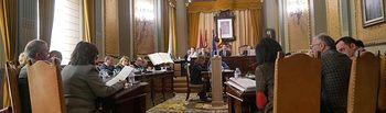 Un momento del pleno de la Diputación de Albacete.
