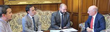 La Junta de Cofradías de la Semana Santa de Albacete visita al Presidente del Tribunal Superior de Justicia de Castilla-La Mancha.