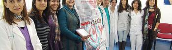 En la imagen las residentes de matrona del Hospital de Toledo que han sido premiadas por un trabajo sobre madres adolescentes.