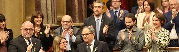 El Parlament inviste a Quim Torra presidente de la Generalitat. Foto: Miquel González de la Fuente.