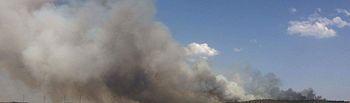 Incendio Campillo de Altobuey (Cuenca). Foto Twitter @Batallont15