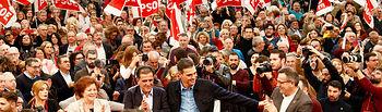 Pedro Sánchez en un acto en Murcia. Foto: PSOE