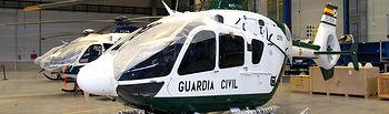 Imagen de un helicóptero EC-135 con destino a la Guardia Civil, desarrollado en la fábrica que la empresa Eurocopter mantiene en el Parque Aeronáutico y Logístico de Albacete. Foto de archivo.