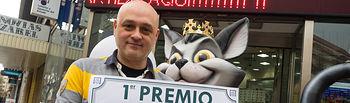 """33414, primer premio de la Lotería Nacional del sábado 11 de febrero de 2017. Vendido en la administración número 9 de Albacete (""""El Gato Negro"""")"""