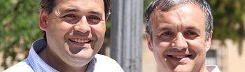 José Luis Fernández, secretario de Empleo del PP de Talavera y portavoz del PP en Talavera la Nueva, junto a Paco Núñez, presidente PP Castilla-La Mancha.