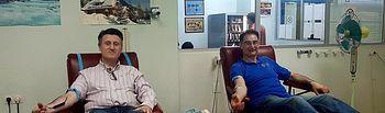 Pedro Soriano dona sangre para que se animen los albaceteños en el Día Mundial del Donante.