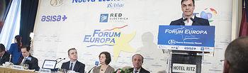 Pedro Sánchez en la presentación de José Manuel Franco en el Fórum Europa.