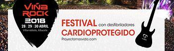 Proyecto+Vida cede desfibriladores para 200.000 personas en el festival Viña Rock 2018.