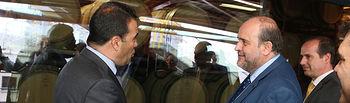 El vicepresidente primero del Gobierno regional, José Luis Martínez Guijarro, visita las instalaciones del grupo Mahou- San Miguel en Alovera. (Fotos: Ignacio López // JCCM)