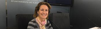 Mª José Simón, concejala de Ganemos Albacete.