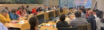 Una delegación de Izquierda Unida de Castilla-La Mancha visita el Parlamento Europeo.