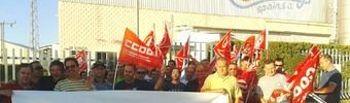 Concentración de los trabajadores de Candy Spain a las puertas de la fábrica en Hellín
