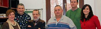 Fotografía en el Congreso de los Diputados del grupo municipal de Villamayor