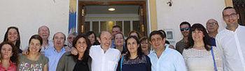 Folot de familia en la inauguración de la sede