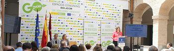 La consejera de Economía, Empresas y Empleo en el I  Foro de inversión  espacios coworking de Ciudad Real.