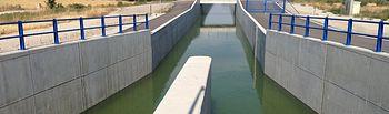 Canal Segarra-Garrigues. Foto: Ministerio de Agricultura, Alimentación y Medio Ambiente