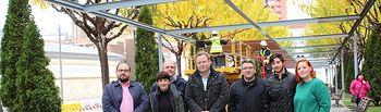 La pérgola de la plaza de los Depósitos del Sol se renueva al completo con una inversión de 150.000 euros.